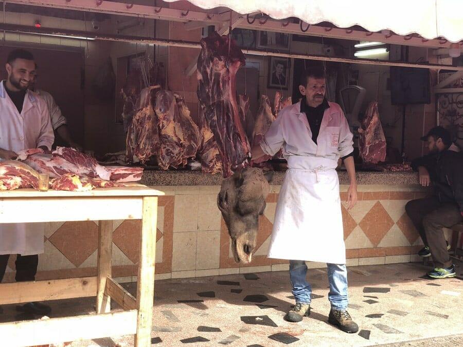 Manger du chameau à Casablanca - Boucher des Habbous