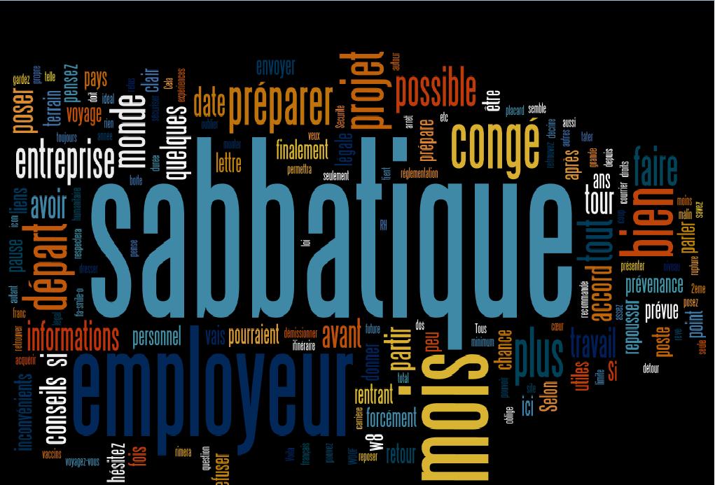 Photo de Présentation article Congé sabbatique