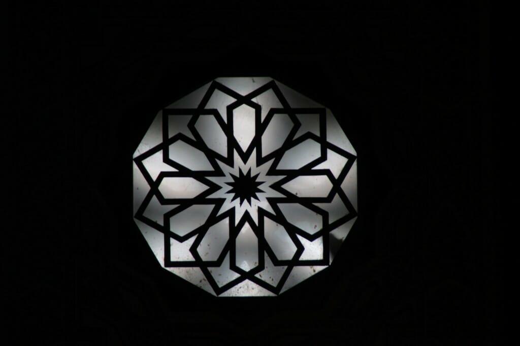 Vitrail de la Mosquée Hassan II de Casablanca au Maroc
