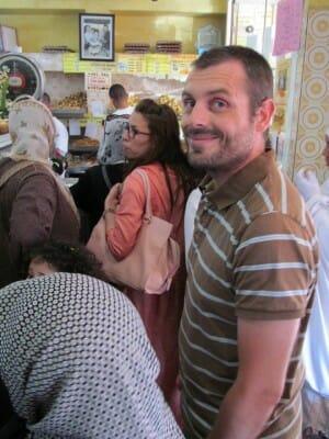 Moi au sommet de la pâtisserie marocain