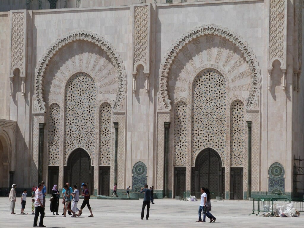 Portes de la Mosquée Hassan II à Casablanca