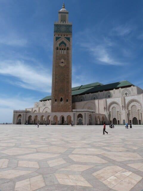 Vue de l'esplanade de la Mosquée Hassan II à Casablanca