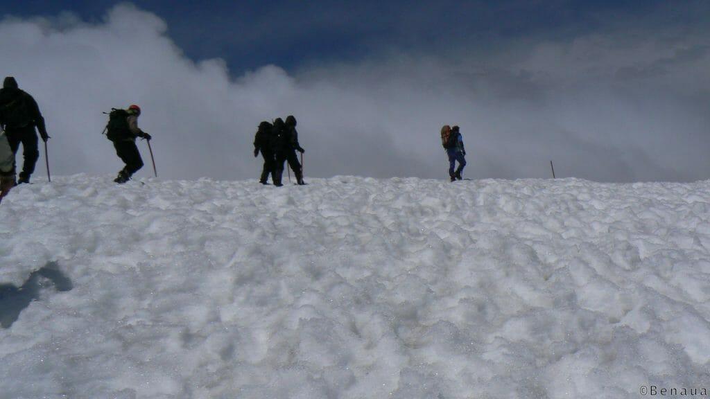 Arrivée au sommet du Volcan Villarica