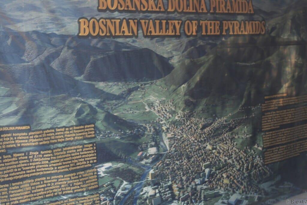 Photo du plan de la vallee des Pyramides bosniaques de Visoko