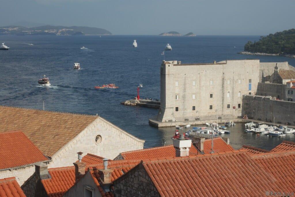 Vue de l'entrée maritime de Dubrovnik