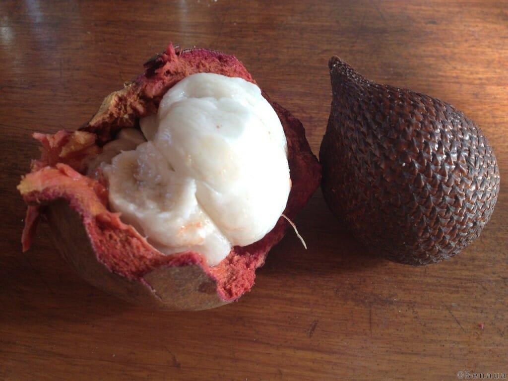 Mangoustine et Snakefruit