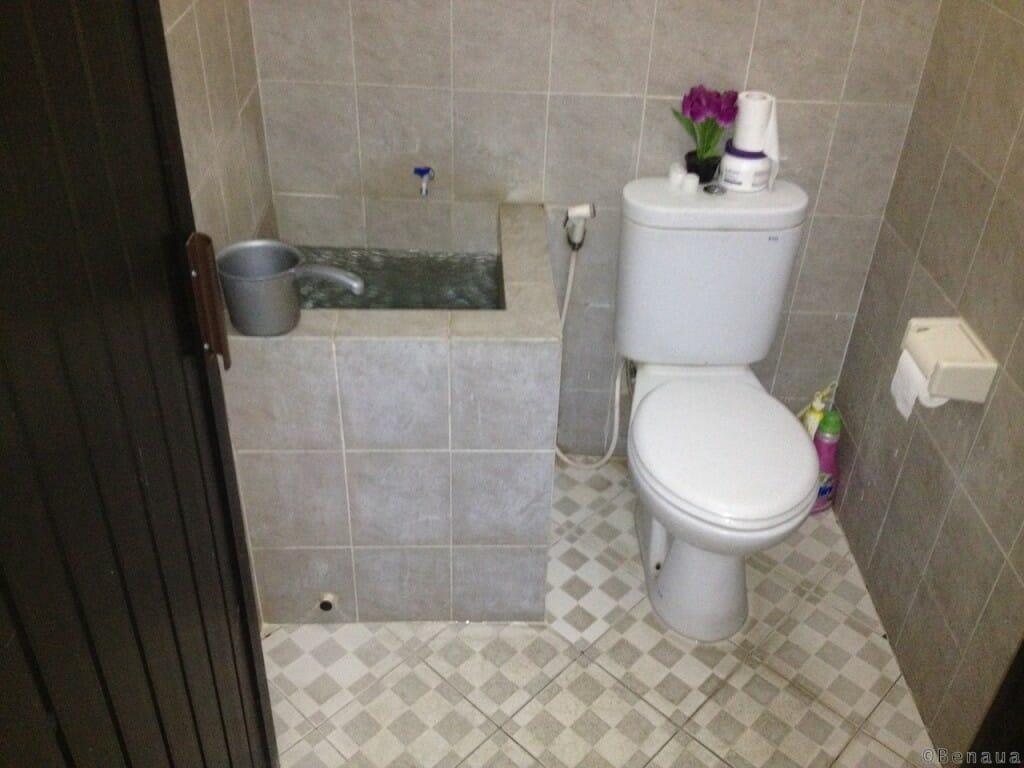 Bien se loger à Bali - Douche et sanitaires