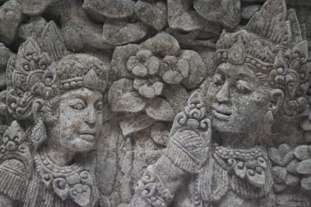 Bali en Indonésie - Sculpture dans la Monkey Forest