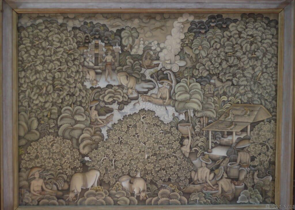 Bali en Indonésie - Musée Neka - Peinture traditionnelle Balinaise