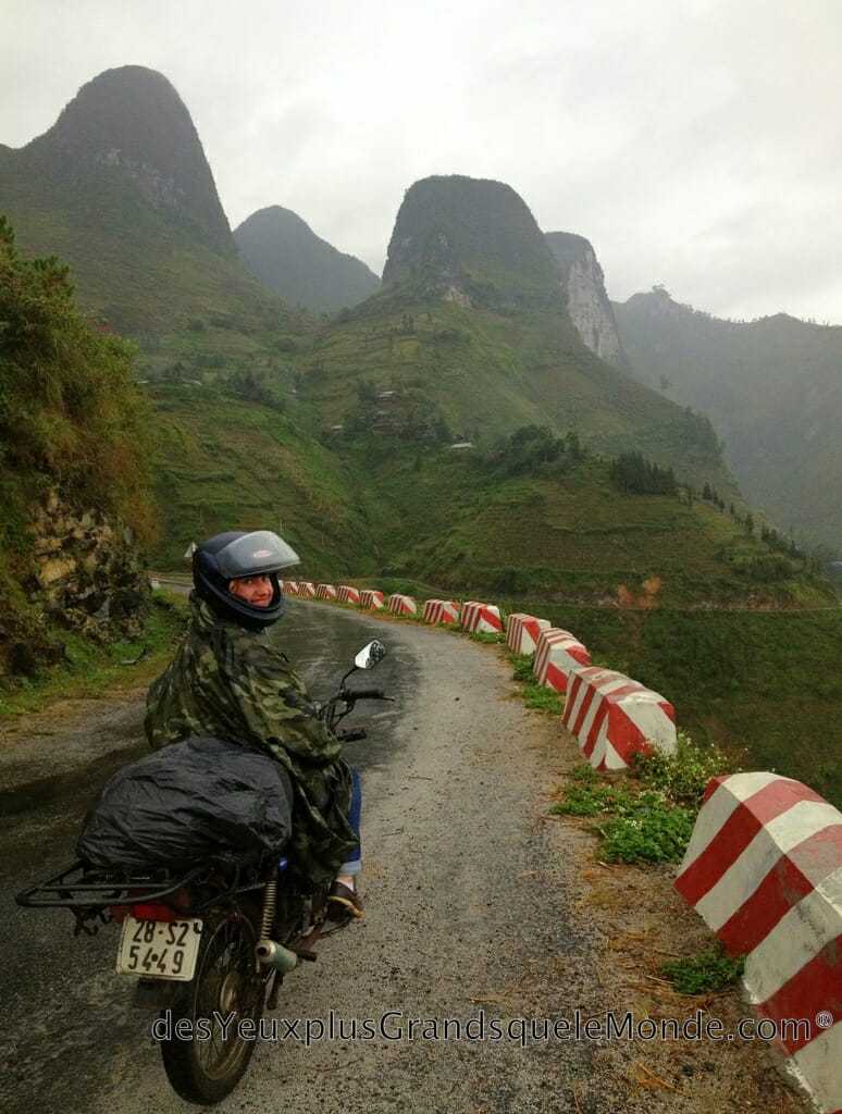 Voyage solo - Ophélie lors de notre Vietnam en moto