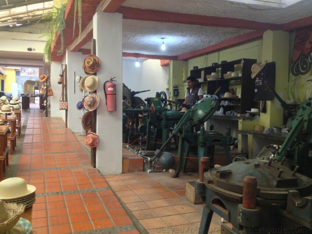 Fabriquer votre Panama en Equateur - atelier de fabrication barranco
