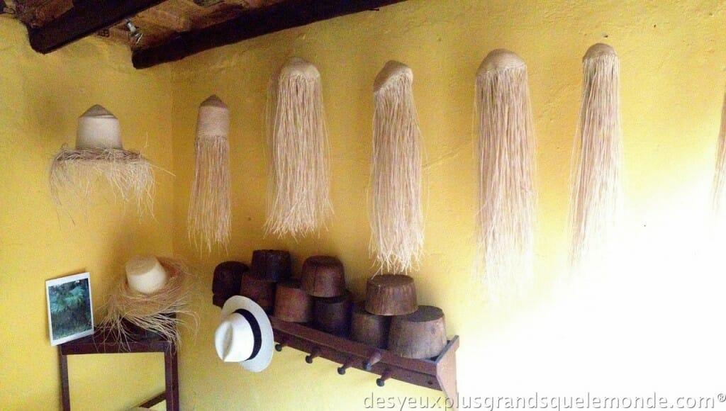 Fabriquer votre Panama en Equateur - Etapes de fabrication du Panama au musée