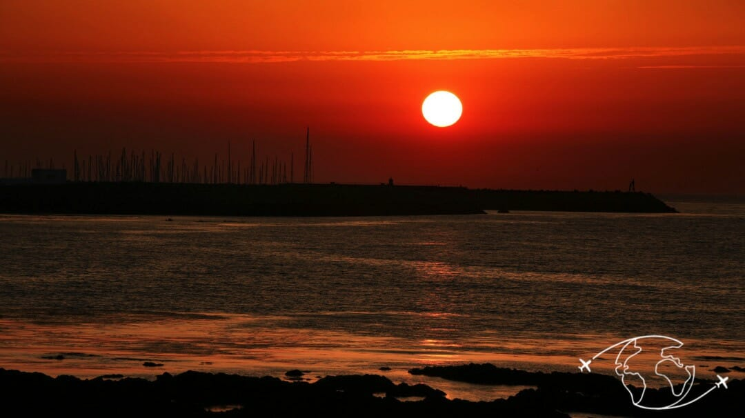 Coucher de soleil sur Port-Joinville à l'Ile d'Yeu