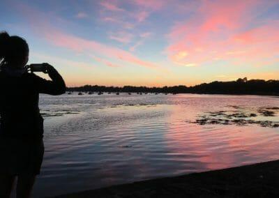 Golfe du Morbihan - Coucher de soleil sur Arradon