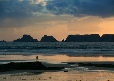 Randonnée autour de la Presqu'ile de Crozon- Coucher de soleil sur la plage de Goulien