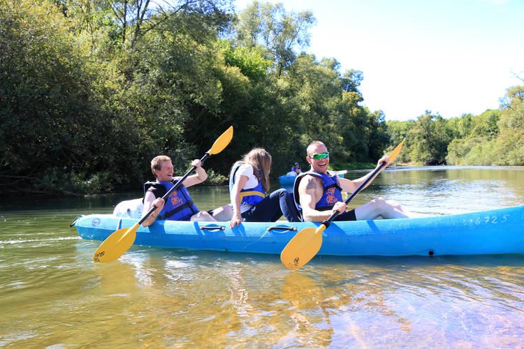 Autour du Lac du Der - Mes accolytes de kayak sur la Marne