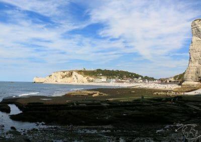 Falaises d'Etretat - Arrivée sur la plage d'Etretat