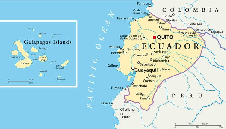 Visiter les Galapagos - Carte Equateur et Galapagos