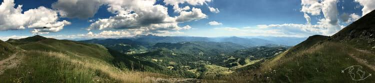 Autour de Corcieux - Panorama au Col de la Schlucht