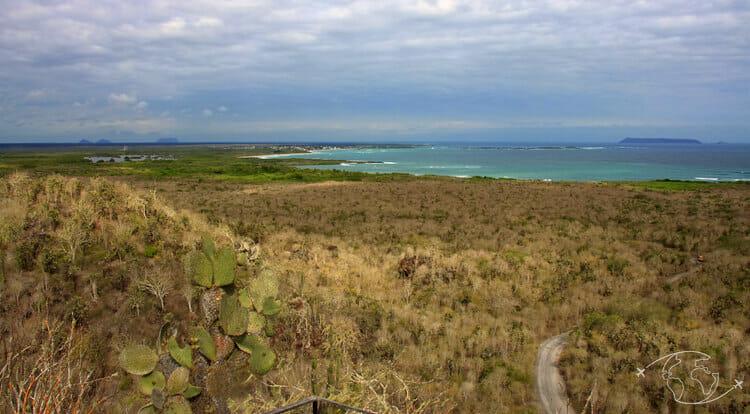 Visiter les Galapagos - Sur les hauteurs d'Isabela - vue de Puerto Villamil