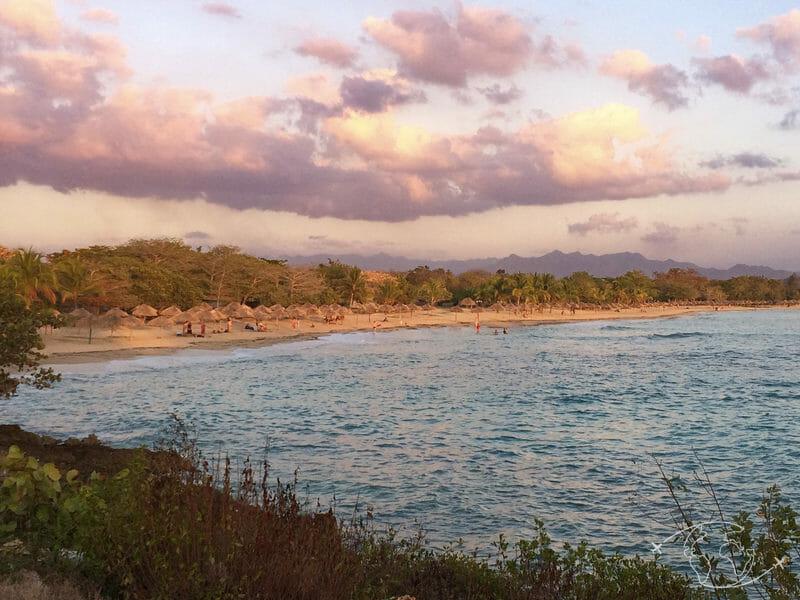 Plongée à Cuba - Coucher de soleil sur la plage de Rancho Luna