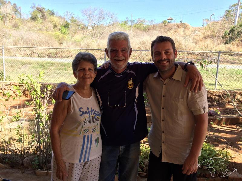 Plongée à Cuba - Oliva, José et moi dans leur jardin