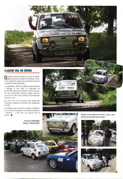 Presse - Rallye du Val de Sèvres - Magazine Club Fiat 500 et dérivés
