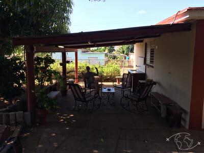 Plongée à Cuba - Sur la terrasse dans le jardin