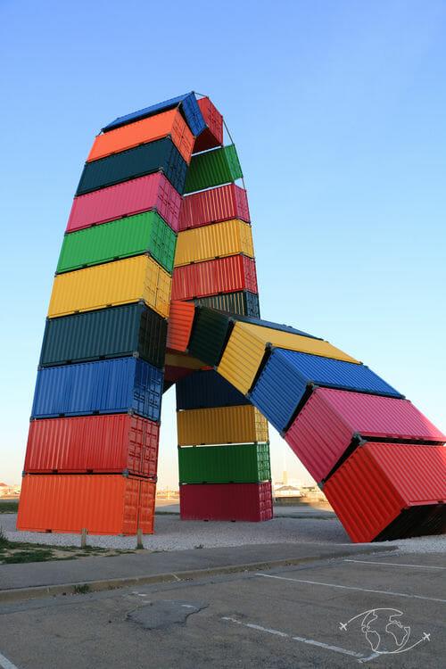 Visiter Le Havre - Catène de containers de Vincent Ganivet
