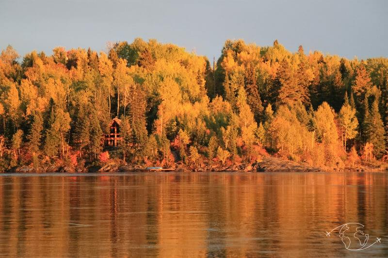 Grand Nord Canadien - mon coucher de soleil pendant l'été indien