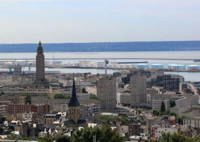 Visiter le Havre - Vue des Jardins Suspendus