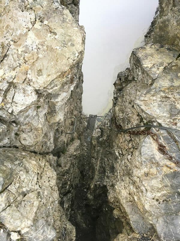 Tour des Dents Blanches - Echelles du Col des Ottans