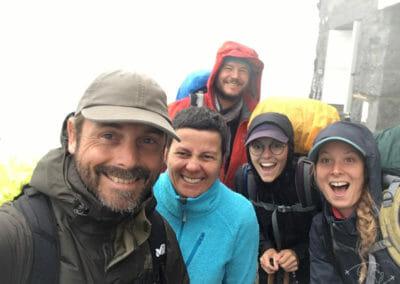Tour des Dents Blanches - Fabienne et l'équipe du jour à la #Cabanedubonheur