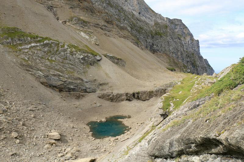 Tour des Dents Blanches - Lac des Chambres - Vue des Hauteurs