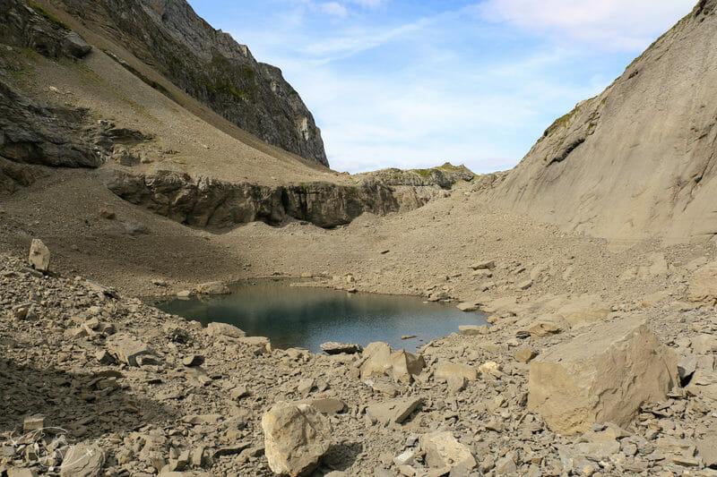 Tour des Dents Blanches - Vue du Lac des Chambres
