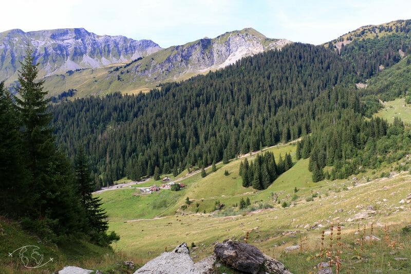 Tour des Dents Blanches - Vue sur l'alpage et le Refuge de Chardonnière