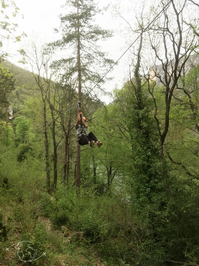 Tyrolienne à Millau