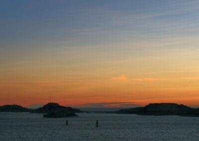 Que faire à Marseille - Coucher de soleil sur les Îles du Frioul