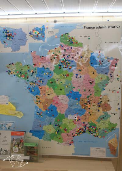 Visite de ferme en Lozère - Carte des visiteurs de la ferme