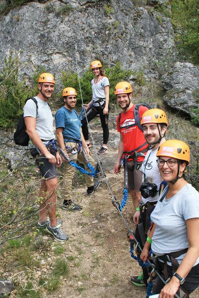 L'équipe de Blogueurs en tyrolienne