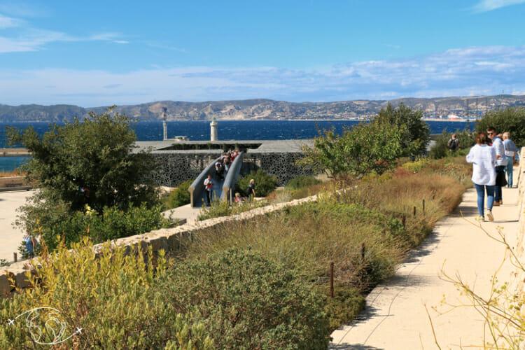 Que faire à Marseille - Les jardins du MUCEM