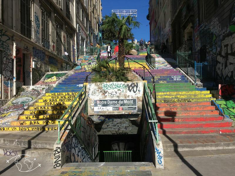 Que faire à Marseille - Métro Notre Dame du Mont - Graffiti