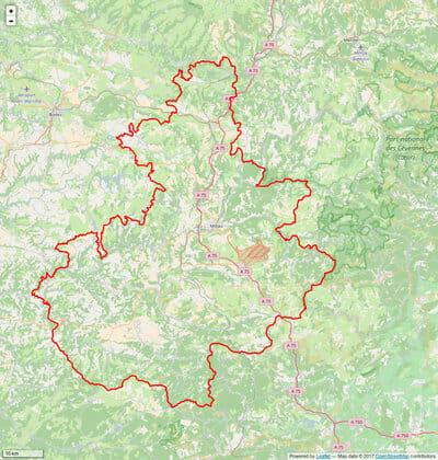 Périmètre_PNR_des_Grands_Causses_Millau