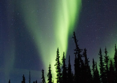Aurores boreales à Blachford Lake Lodge