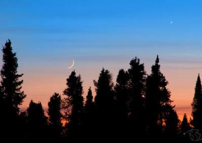 Coucher de soleil sur Blachford Lake Lodge
