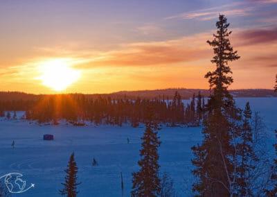 Lever de soleil sur Blachford Lake Lodge