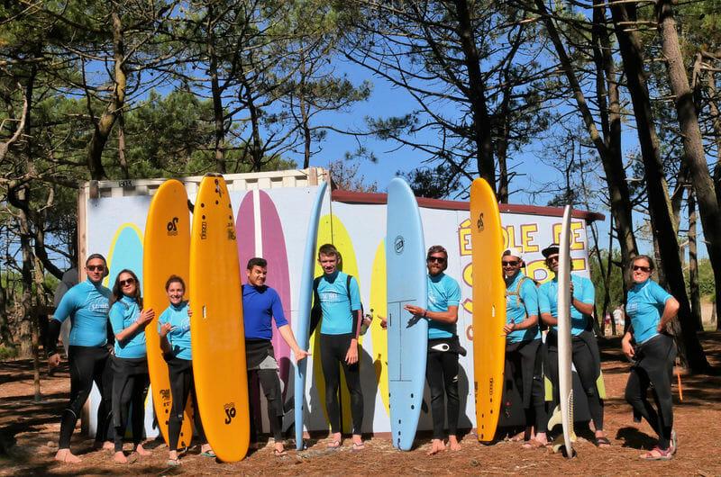 Ecole de Surf - L'équipe du Surfcamp