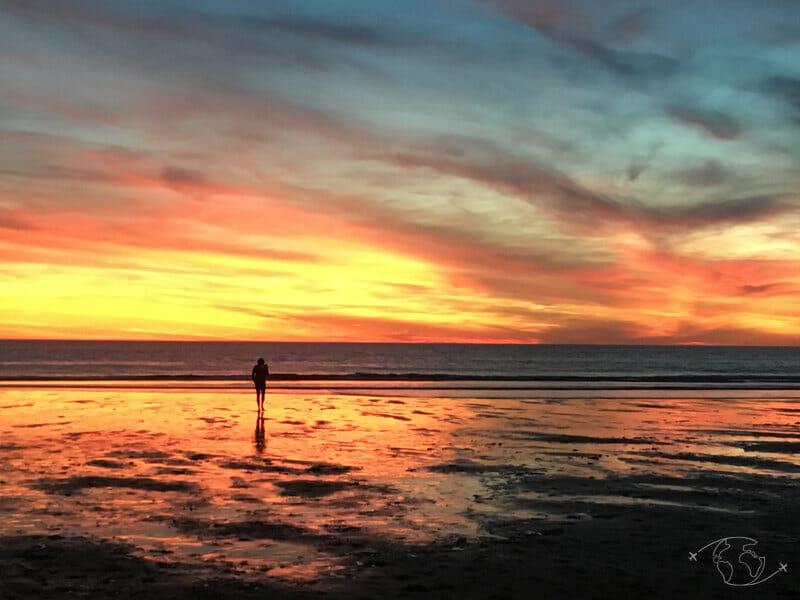Le ciel s enflamme - Coucher de soleil au Porge Océan