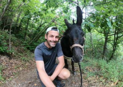 Pablo et moi sur le chemin de Stevenson - Randonnée avec un Ane