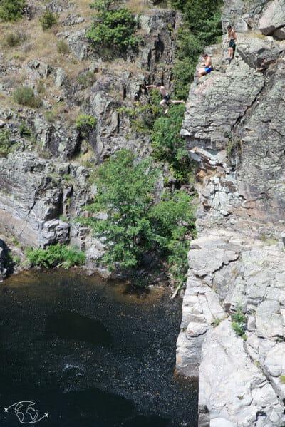 Chemin de Stevenson - Sauter des falaises